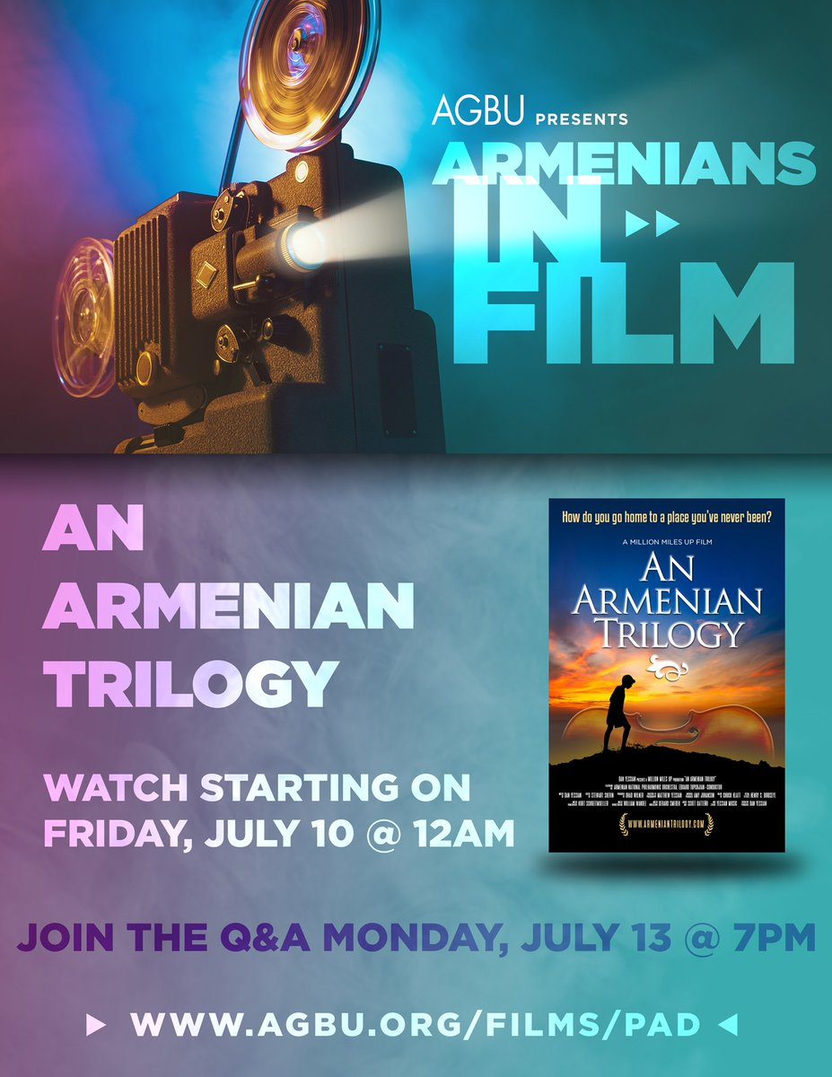 @ArmenianTrilog is now live! Register at https://t.co/RIRRQf3ADs for FREE to stream this moving documentary at any time until Monday, July 13, and attend an exclusive Q&A discussion over Zoom with @DanYessian and his team Monday evening at 7pm EDT! @agbu @AGBUarmenia @agbueurope https://t.co/2leBpJMcfF