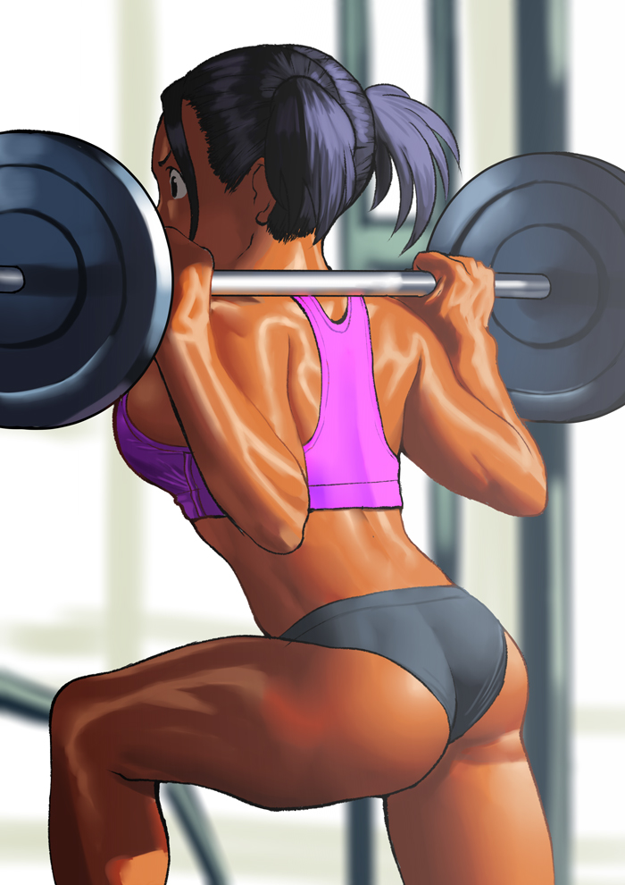 again, Arung Work out, i really love hot strong girls~~ ^ ^