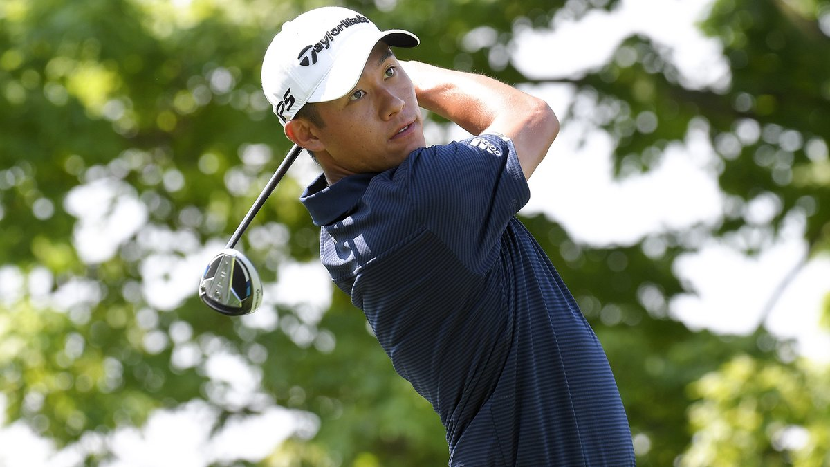 Collin Morikawa approaches #MovingDay with a three-shot lead 💪 He ran off four straight birdies after making the turn Friday, finished with another birdie after the first of two storm delays and shot 6-under 66. golfchnl.co/16f6e