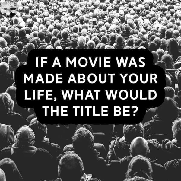 Seriously, Have you ever thought on this ?  Come on think & reply.  I would personally say my life movie would be titled as WEALTH ARCHITECT   What would yours be ? #life  #GoalOfTheDay https://t.co/hpY5v5cgTj