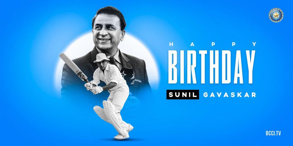 Happy Birthday to the former #TeamIndia captain and batting legend, Sunil Gavaskar!  <br>http://pic.twitter.com/pRdymhah1c