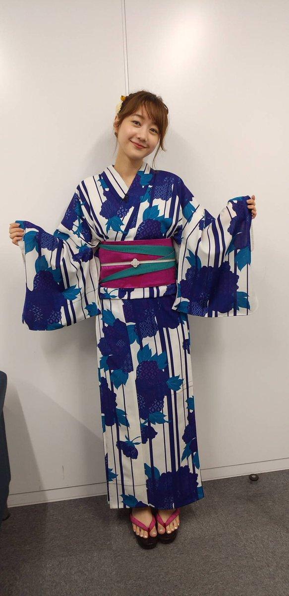 今週は七夕賞という事で、浴衣でお届けします!#bs11競馬#高田秋