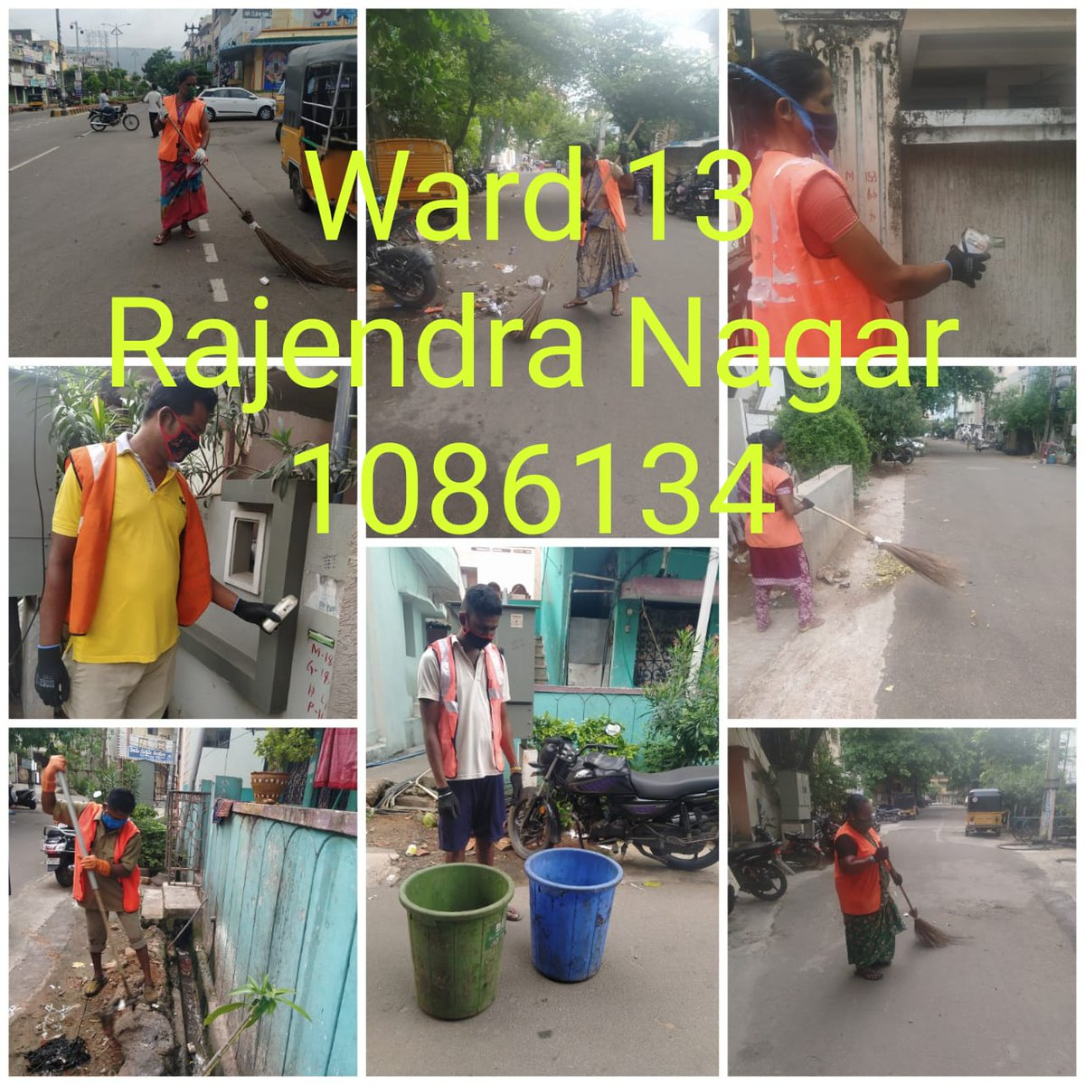 #SwachhataWarriors from Greater Visakhapatnam Municipal Corporation are working hard to stop the spread of #COVID19 & keep the city clean with the help of cleanliness & sanitization drives.  #MyCleanIndia #CitiesFightCorona https://t.co/PeX2XRL7FO