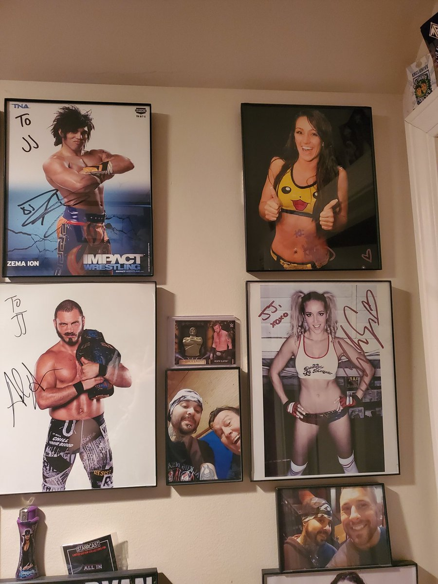 Taking a moment to appreciate my #autographed8x10s #kylierae #chelseagreen #djz #austinaries #htm #coltcabana https://t.co/P2s4UtltLR