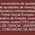 Image for the Tweet beginning: #ayudas #subvenciones #España #ayudantes #investigación