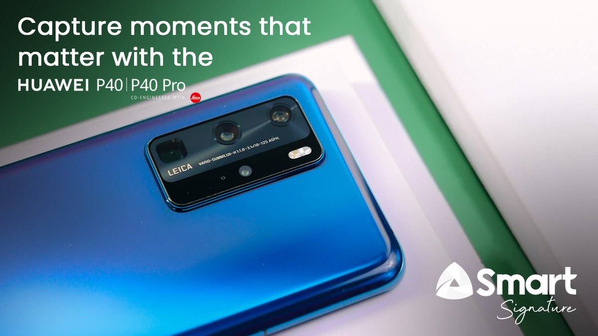 The enlarged sensor and increased pixels take in more light and keep massive details for every stunning picture with super clarity.   Capture moments that matter with the #SmartHuaweiP40 now, yours starting at P2,399/mo. with Signature. https://t.co/OAZD7LjJyk https://t.co/aDg6CoBDOM