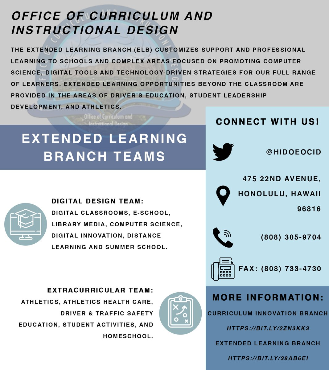 Office Of Curriculum And Instructional Design Hidoeocid Twitter