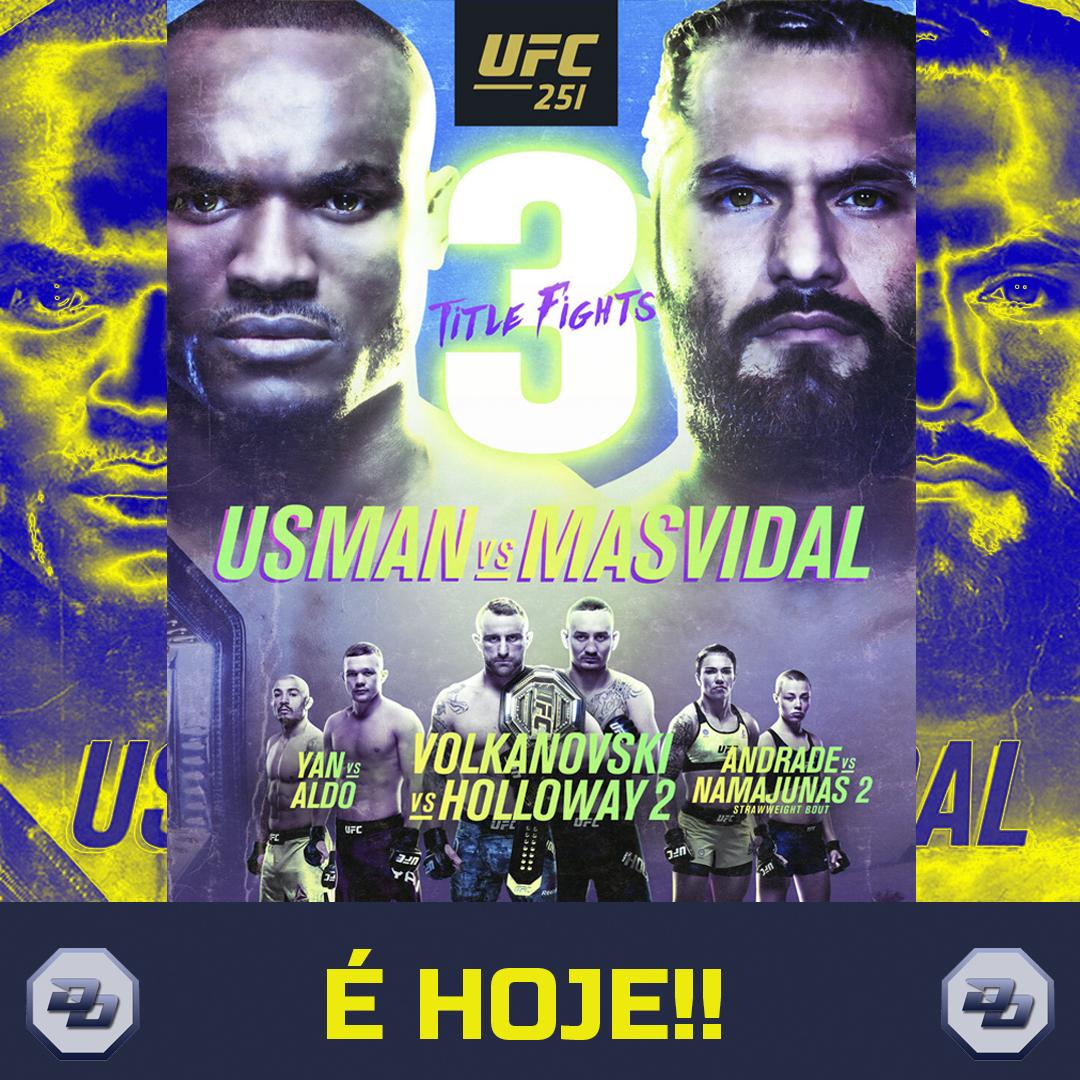 """A ESTREIA DA ILHA DA LUTA!!   Chegou o grande dia do #UFC251. O primeiro evento da tão falada """"Ilha da Luta"""" terá três grandes disputas de título envolvendo: @USMAN84kg x @GamebredFighter, @alexvolkanovski x @BlessedMMA e @PetrYanUFC x @josealdojunior. #UFCFightIsland https://t.co/0rClJFZTEN"""