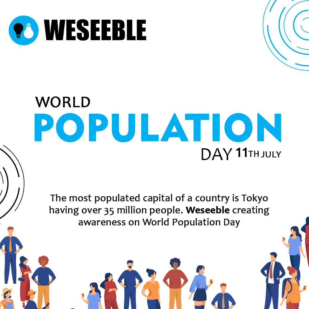 World Population Day!  Visit Us: http://www.weseeble.com  #weseeble #collaborationtools #collaboration #business #businessapps #businesstechnology #businesssolutions #businessmanagement #populationcontrol #worldpopulationday #worldpopulationincreasing #worldpopulationpercentagepic.twitter.com/jXpKDzW6Zs
