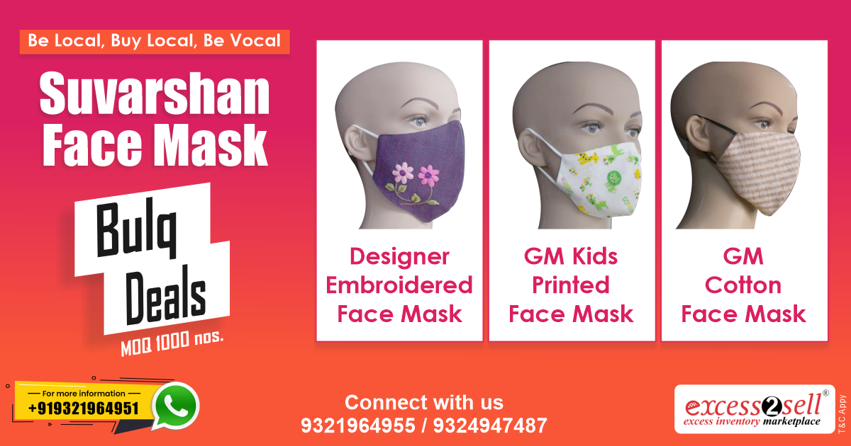 Want to #sell the best masks at your store? Then you might want to get in touch with only at #Excess2sell Wholesale Suvarshan Designer Embroidered Face Mask https://t.co/gT9hIlbP4F Connect with us at https://t.co/7zUeFU5eC5 #WholesaleMask #MaskInBulk #StockOfMask #FaceMask https://t.co/n5zXzq4CPG