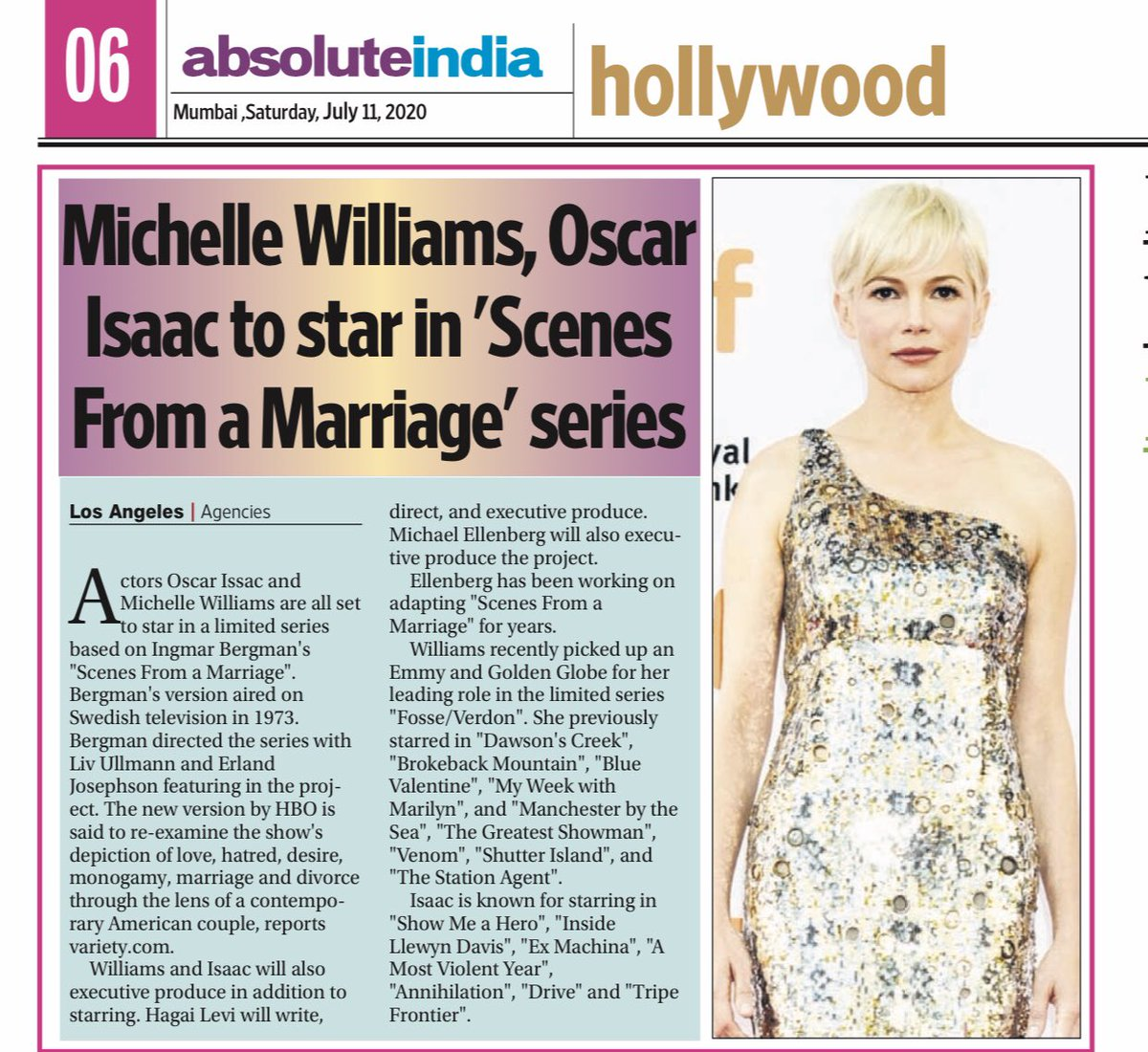 #michellewilliams #Hollywood https://t.co/hX44oe4RTG