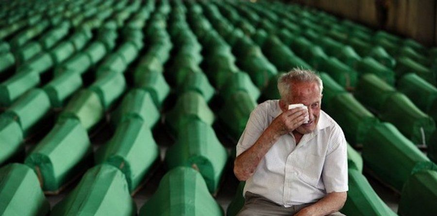 """Today we mark 25 years since the Srebrenica genocide in which 8372 Bosniak civilians were brutally murdered. They were killed after Bosnian Serb forces attacked the UN """"safe area"""" of Srebrenica in July 1995.  #Srebrenica25 ⚪️ https://t.co/5NE5Qa4fLL"""