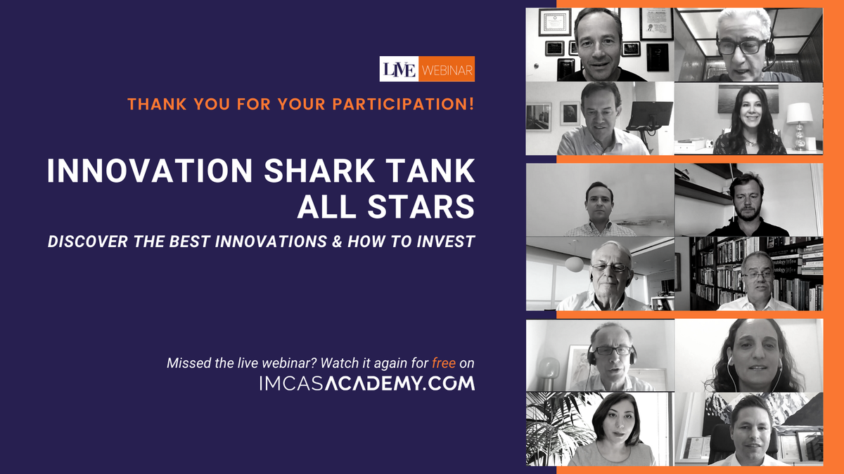 """- REPLAY THE WEBINAR -  We hosted a team award-winning innovators, finance specialists and physician experts for the webinar, """"Innovation Shark Tank All Stars"""". Watch it again for free & discover the best innovations and smart investment strategies https://imcas.com/go/UG7Tpic.twitter.com/roy2PwHRA0"""