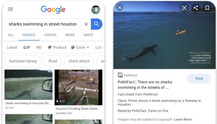 Google bringt Factchecking zur Bildersuche https://t.co/teOEBxDT7l https://t.co/x8mflyLnsc