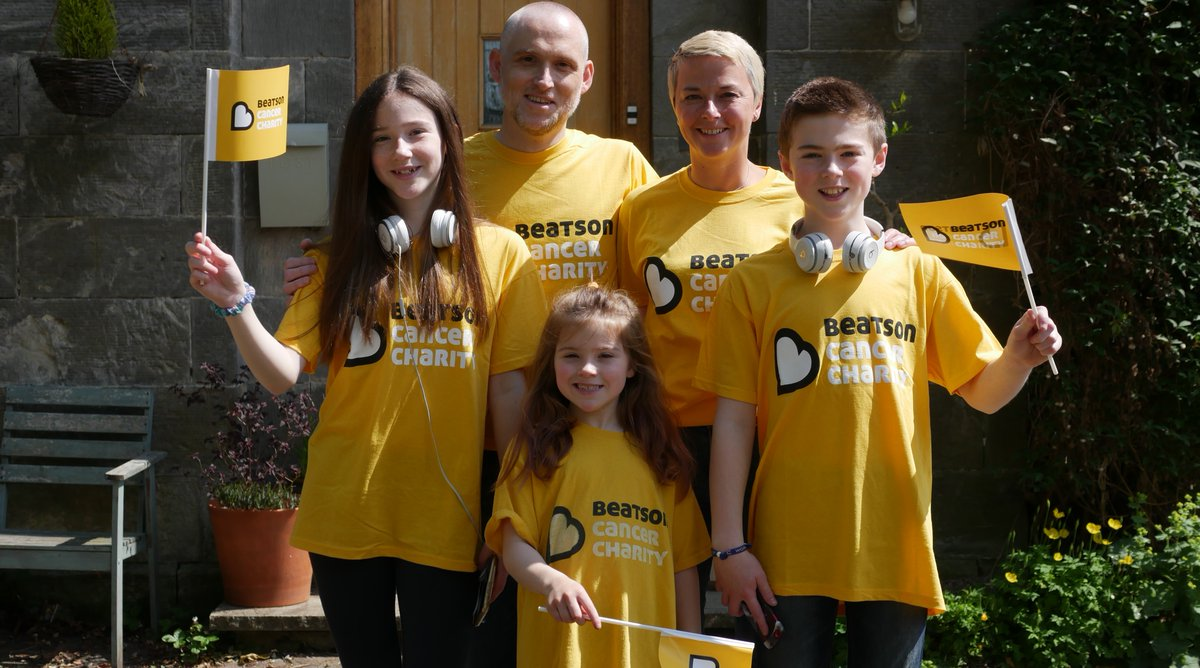 We're delighted to introduce the Allan family who are going #OffTheBeatsonTrack in Tillicoultry! 💛   Find out more about the Allan family, and why they're going Off The Beatson Track, on our website at .  #OTBT #turnthetownyellow