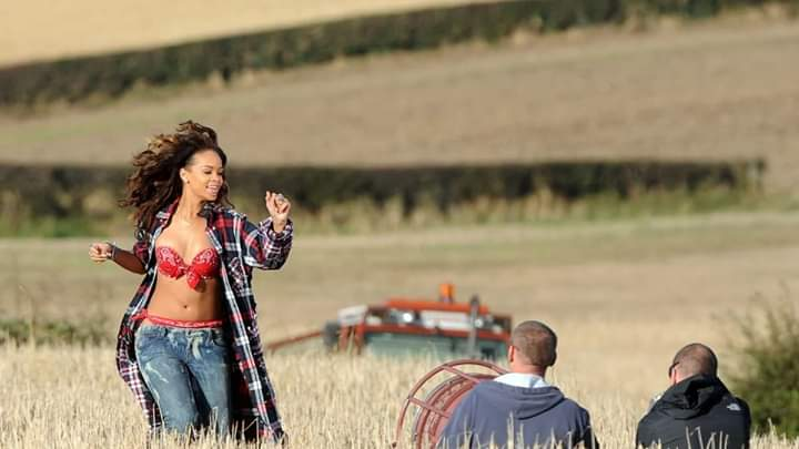 This date 7 years ago, @rihanna was in a field in Ballymena, shooting the video for We Found Love, which annoyed a farmer.