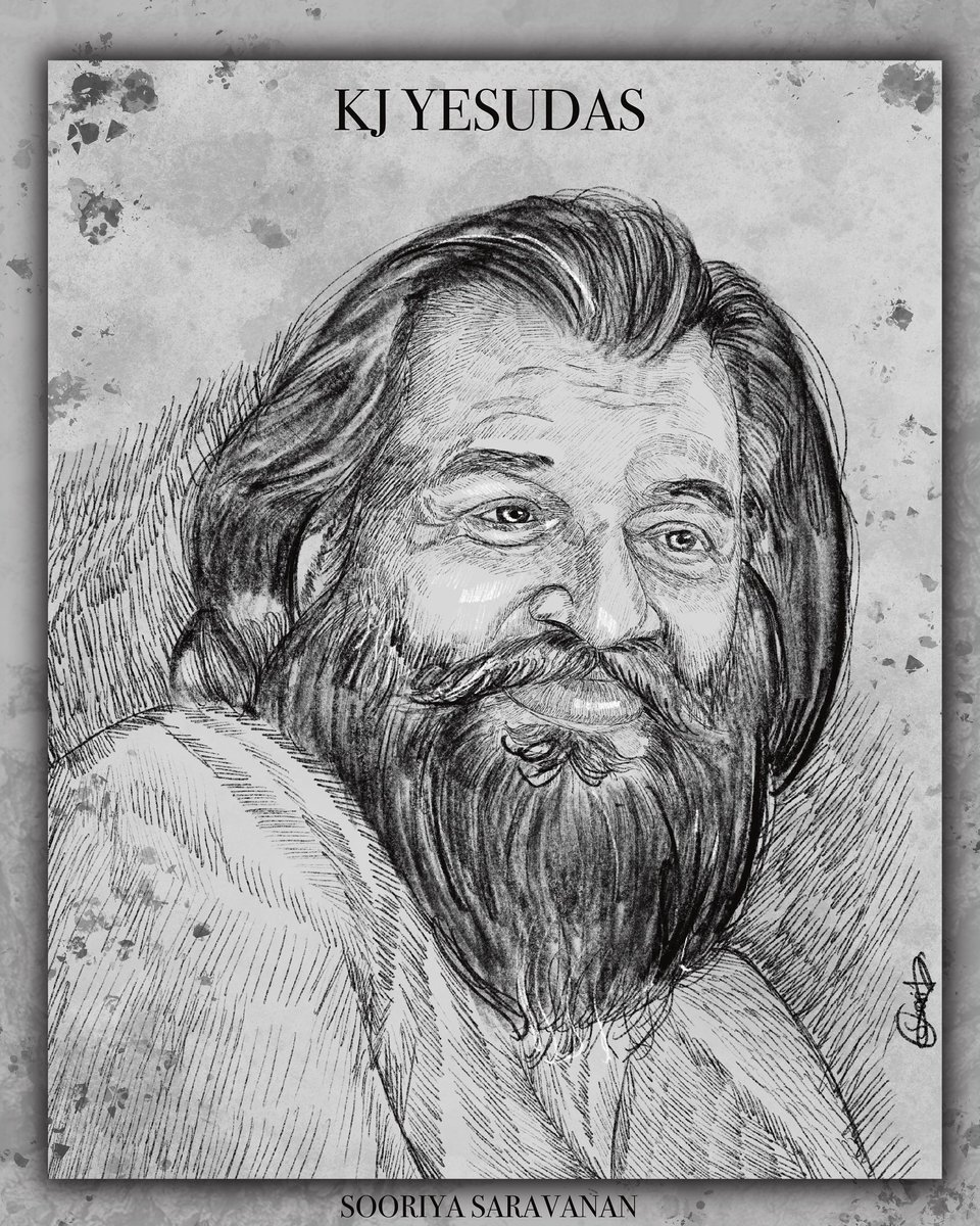 There will not be any melophile without knowing KJ YESUDAS. He and our legend Ilayaraja  fills our sleepless nights with his mesmerising  music #kjyesudas #yesudas #ilayaraja #tamil #cinema #quarantine #sketches @IAMVIJAYYESUDAS