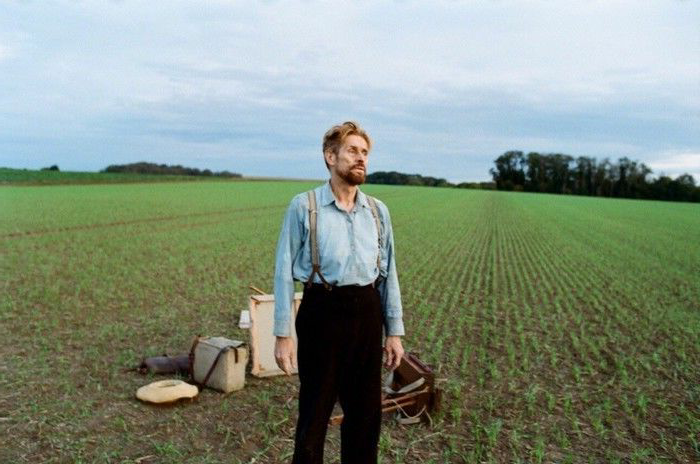 Willem Dafoe plays Van Gogh in the biopic At Eternity's Gate.