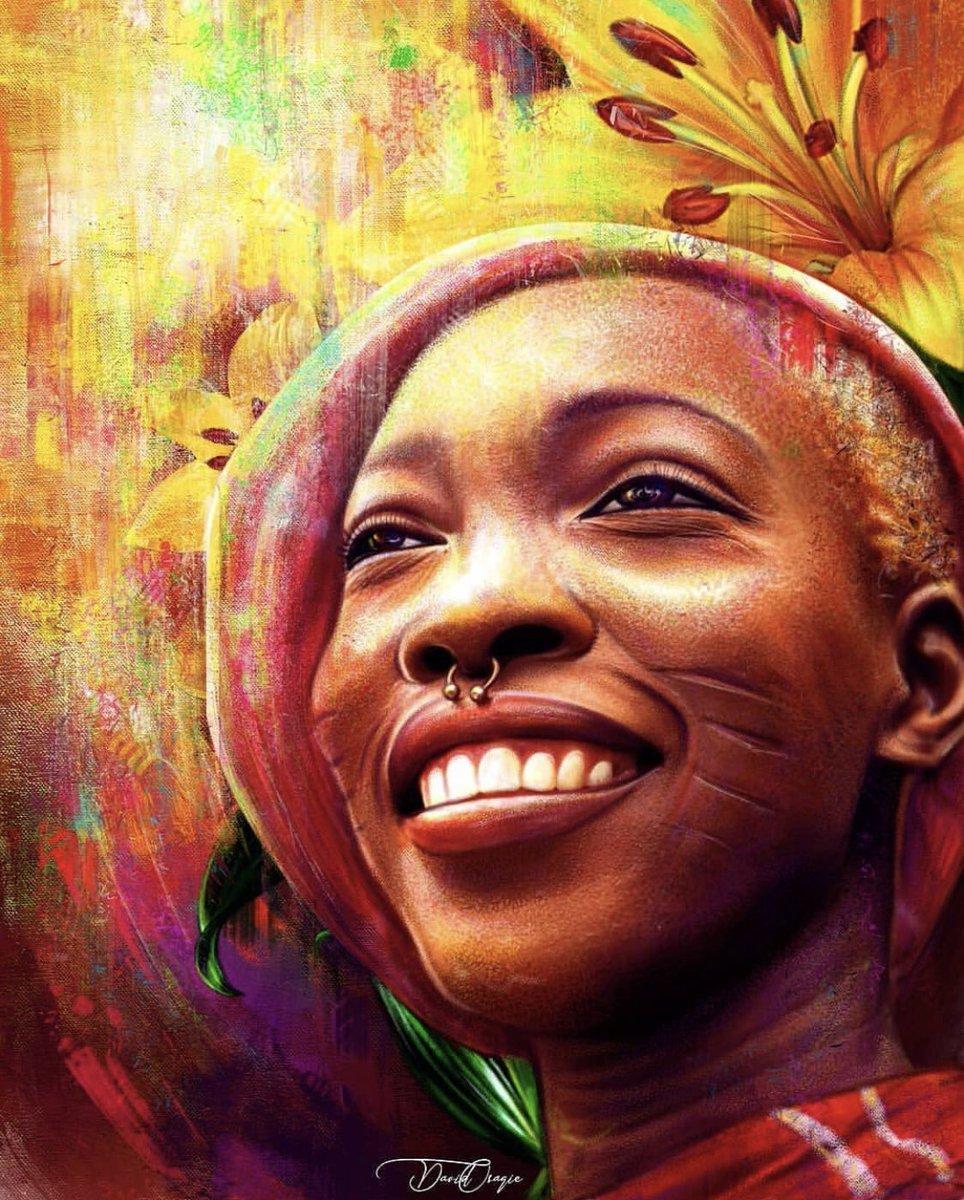 Thanks @colors_of_osagie for this beautiful artwork. #repost  Hello @adetutuo.j  The Light!   #Illuminate #Shine #Glow #adetutuoj #livingart #BeingAdetutuOj #tribalmarks #smilepic.twitter.com/anb3v9ykZv