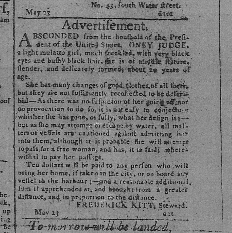 @piersmorgan The next time you want to wax poetic about George Washington, remember Ona Judge, his runaway slave for whom an ad was placed for her capture. https://deadline.com/2020/07/erica-armstrong-dunbar-never-caught-book-feature-provenance-films-1202980814… https://en.wikipedia.org/wiki/Oney_Judgepic.twitter.com/fpL9Md91hc