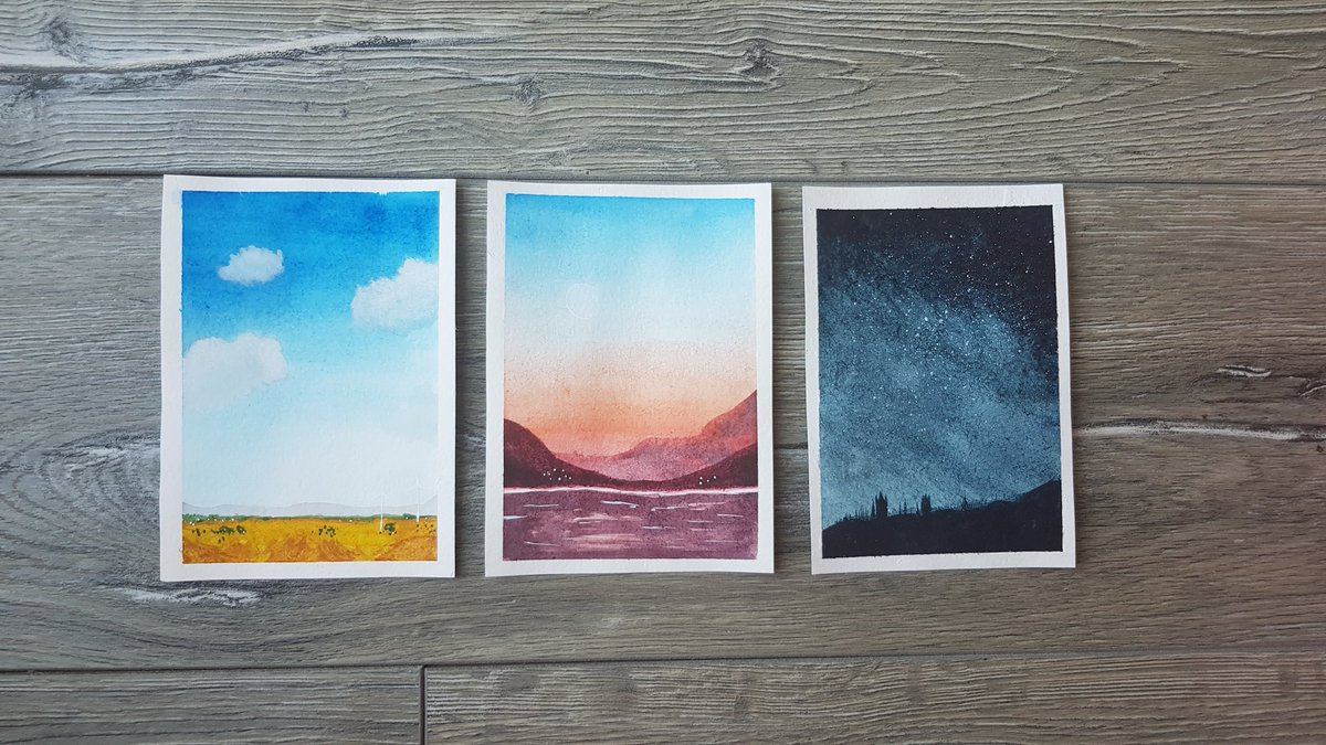 Hi heres some landscapes i did using a turorial and three skillshare classes <br>http://pic.twitter.com/z8rrneHfCf