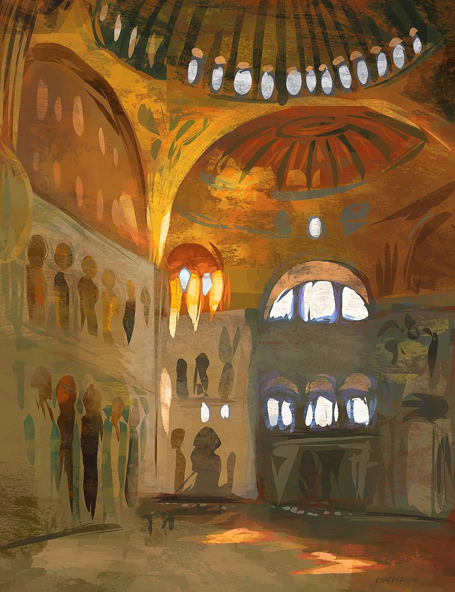 John Singer Sargent study. (Interior #HagiaSophia).