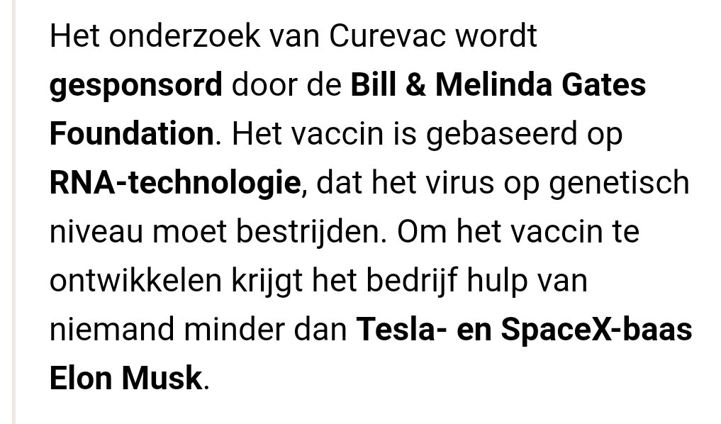 Uit het #AD Over Duits #Vaccin programma tegen #Corona #COVID__19 4000 testpersonen hebben zich aangemeld voor een prikkie van: (hoe voorspelbaar) ome Bill en z'n vrouw...Teslabaas #Musk doet ook mee! Dus we leggen onze gezondheid in handen van een Computerboer en Autohandelaar.. https://t.co/Ol7LZYFXfq