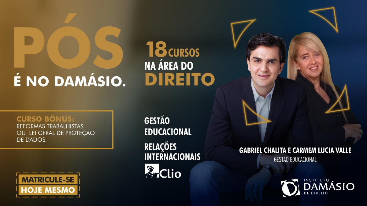 Que tal fazer #Pós #Graduação no #Damásio?  Por exemplo, #Gestão #Educacional com os professores: @gabriel_chalita e Carmem Lucia  #Curso objetiva preparar e formar #gestores, #professores e #profissionais na área educacional  #Informações:(18)99141-8872 #Araçatuba #Birigui #EAD https://t.co/GczZgaJsYV