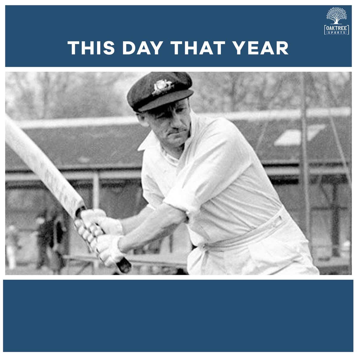#OnThisDay in 1930, the legendary Sir Don Bradman scored 300 runs in a single day's play! Nobody has done it before or since.  #ThisDayThatYear #DonBradman #TripleHundred #TestCricket #OaktreeSports<br>http://pic.twitter.com/WpYcqIX2Vq