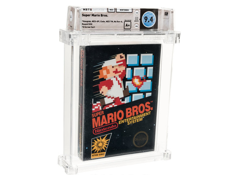 Sealed copy of Super Mario Bros. breaks record for most expensive game ever sold