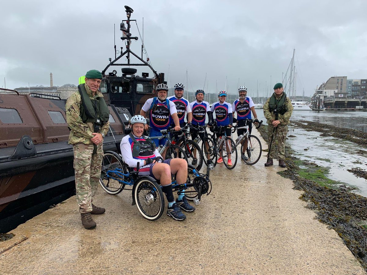 It was a great privilege for 47 Cdo to support Mark Bowra and the @BowraFoundation team en route to Land's End. Humbling and inspiring - the man's a legend! @theRMcharity @MajGenHolmes