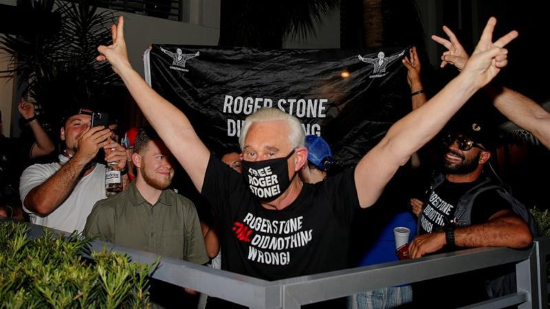 US President Donald Trump commutes longtime friend Roger Stone's prison sentence