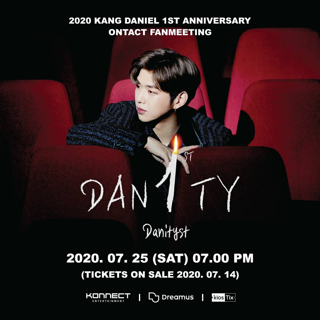 [#DANITYST] What Are You Up To, DANITYs? Better clear your schedule on July 25th, because @konnect_danielk will be having his 1st anniversary ontact fan meeting 🎉 Ticket sales will start on July 14th, and Indonesian fans can purchase them via @kiosTix! #KANGDANIEL #강다니엘