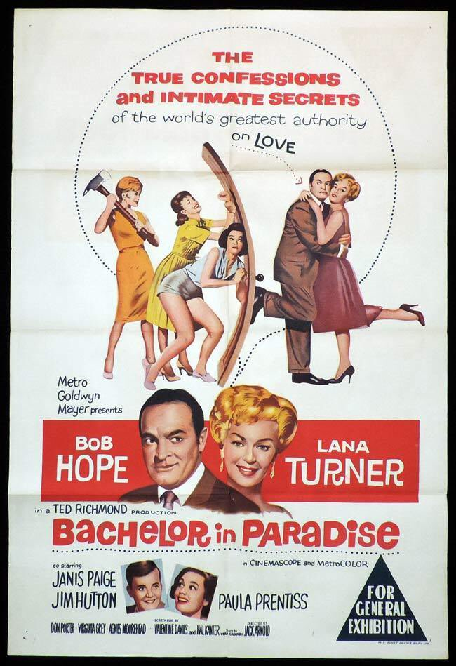 FILM OF THE DAY: Better than expected 1960 timepiece with Hope as swinging international guide book author forced to live in & chronicle SF Valley housing development to pay taxes. Some funny scenes, Janis Paige delightful as predatory divorcee#BobHope#LanaTurner#1960#film#movie pic.twitter.com/eyZc3d5AsE