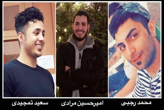 #Iran's Supreme Court has upheld the death sentences of Amirhossein Moradi, Mohammad Rajabi & Saeed Tamjidi for participating in the November 2019 #Iranprotests  https://t.co/dFeVtEpNb6 https://t.co/QQgQKyoYHV