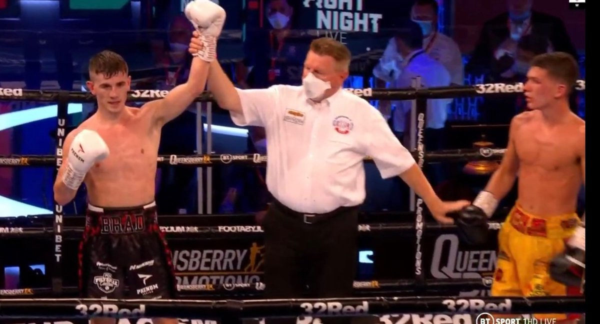 116-113 117-111 117-111  #AndStill: Brad Foster defends his British and Commonwealth titles after outpointing James Beech and now owns the Lonsdale belt outright 🏆🏆🏆  It's so good to have boxing back in the UK #BoxingIsBack https://t.co/2EHnfhbTUF