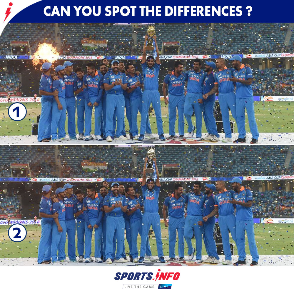 How many differences have you found out of ? Let us know  . . . #GameOnWithSportsDotInfo #TeamIndia #AsiaCup #SportsDotInfo #SaturdayMorning #cricketisback #ENGvWI #ViratKohli  #SaturdayThoughts<br>http://pic.twitter.com/mMDxa2YXcr