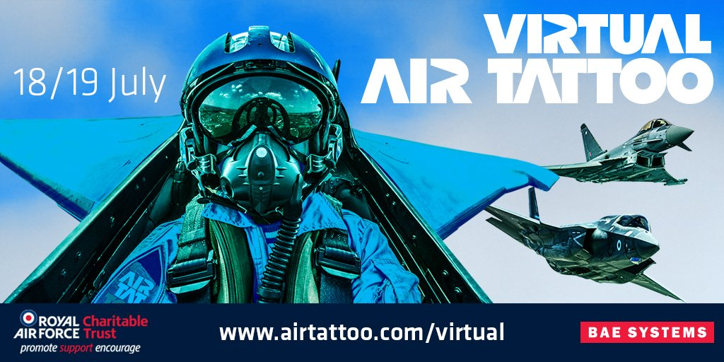 One week to go until virtual @airtattoo!  Experience virtual flying displays, interviews & unique behind the scenes footage with four hours of live-streamed content each day.  Find out more: https://t.co/T3CuKpezdW  #NextGenRAF #VirtualAirTattoo https://t.co/TI2tibq8SK