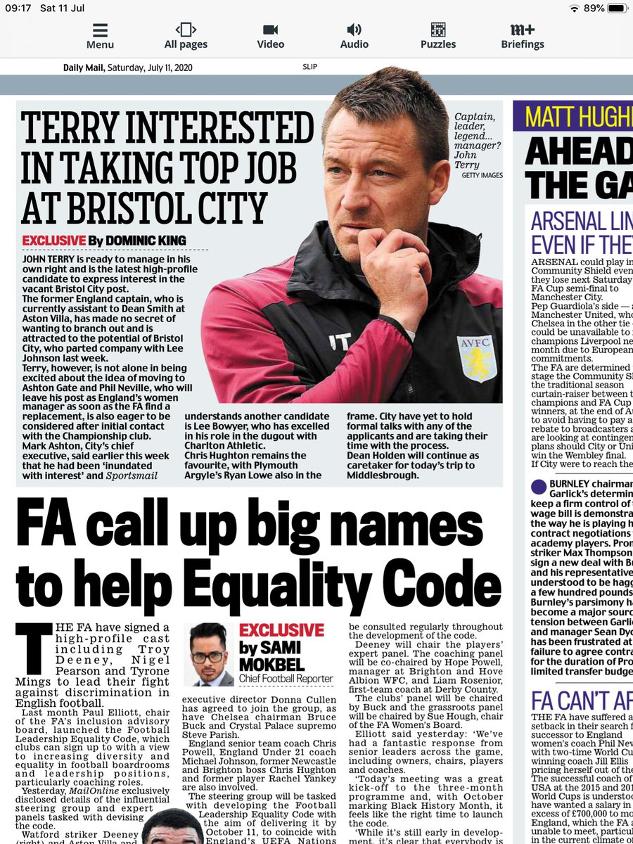 John Terry keen on Bristol City vacancy; many have put their names forward for an excellent position, including Phil Neville, Lee Bowyer, Ryan Lowe and Chris Hughton ⚽️ https://t.co/5MS1yibVLS