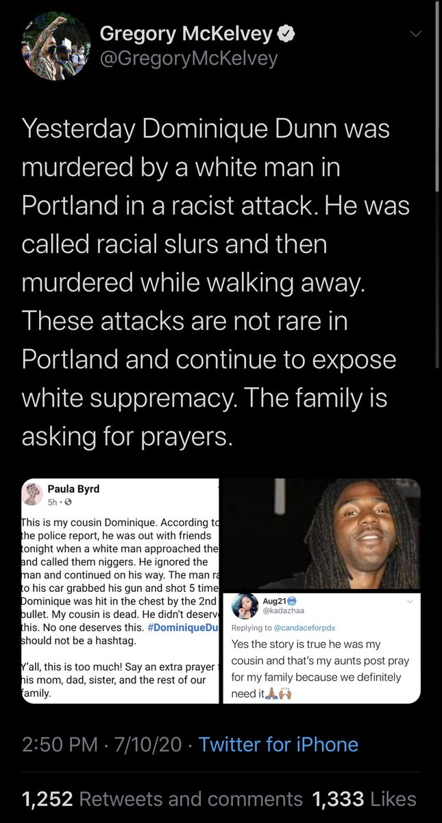 Portland upper-middle class race hustler & antifa cheerleader @gregorymckelvey is doing what he does best: stoking racial hatred through spreading lies about the #DominqueDunn murder.  McKelvey himself was previously arrested for allegedly kidnapping & strangling an underage girl https://t.co/vzFfC3M6s3