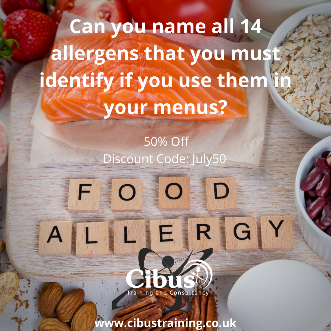 Can you name all of the 14 #allergens that you must identify if you use them in your menus? Achieve your #certificate in Allergens Awareness using promo code July50 to receive 50% discount for this week only. https://www.cibustraining.co.uk/food-hygiene   #foodhygiene #foodallergys #foodsafetypic.twitter.com/um8Rkc8Ixl