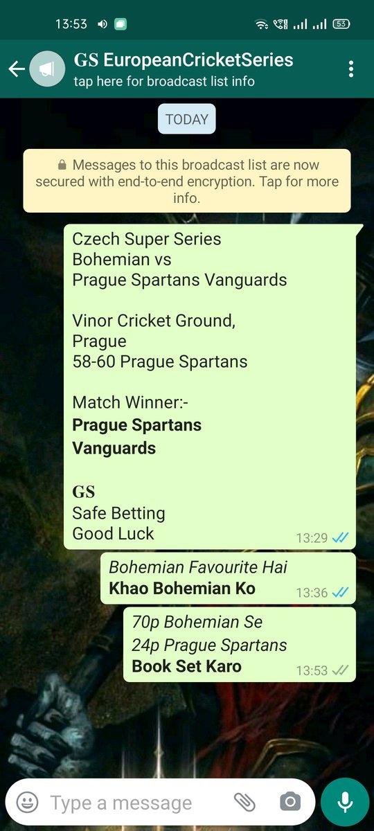 Prague vs Bohemian  #PSVvBCC #PSVvsBCC #BCCvPSV #BCCvsPSV #BohemiansCC #PragueSpartansVanguards #CSS #CSS1 #CSS01 #CSS2020 #CzechSuperSeries #Prague #Jackpot #Tipping #Prediction #MatchPrediction #Tipster #Tipper #MatchTips #SessionTips #T20 #Winner #Dream11 #GSdadaTips #GSdada