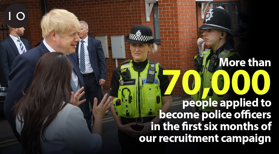 Police are always there for us, protecting our neighbourhoods and putting themselves at risk so that we can be safe. It's a job that demands true courage, perseverance and devotion to others. I'm delighted that so many have answered the call to serve.
