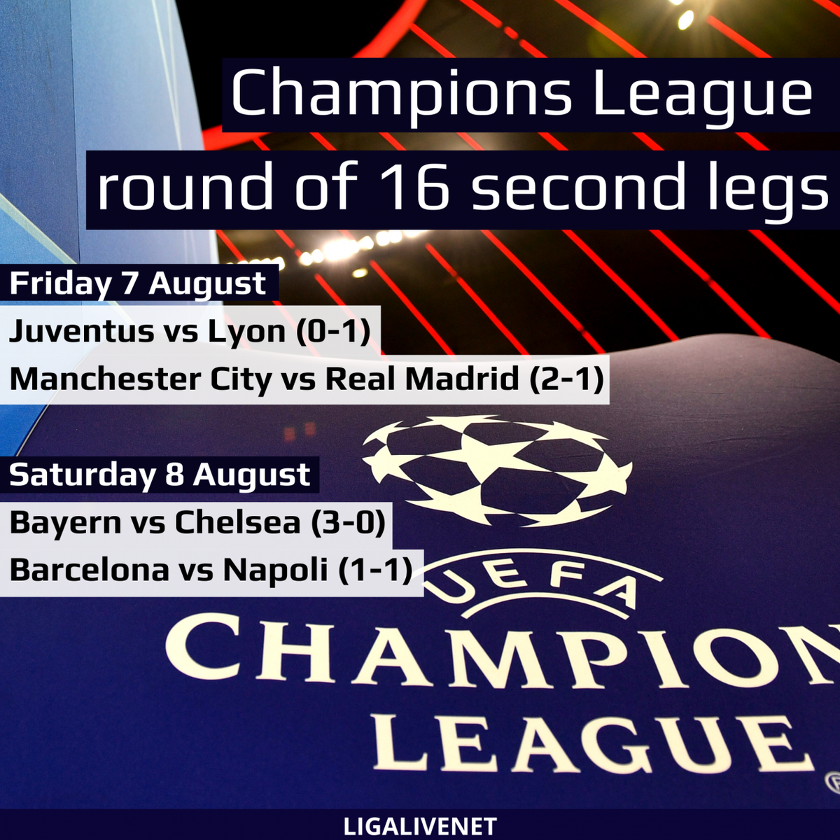 Champions League round of 16 second legs http://ow.ly/Z9cY102iwhU  #football #soccer #ligalivepic.twitter.com/vw5QI4V4Jg