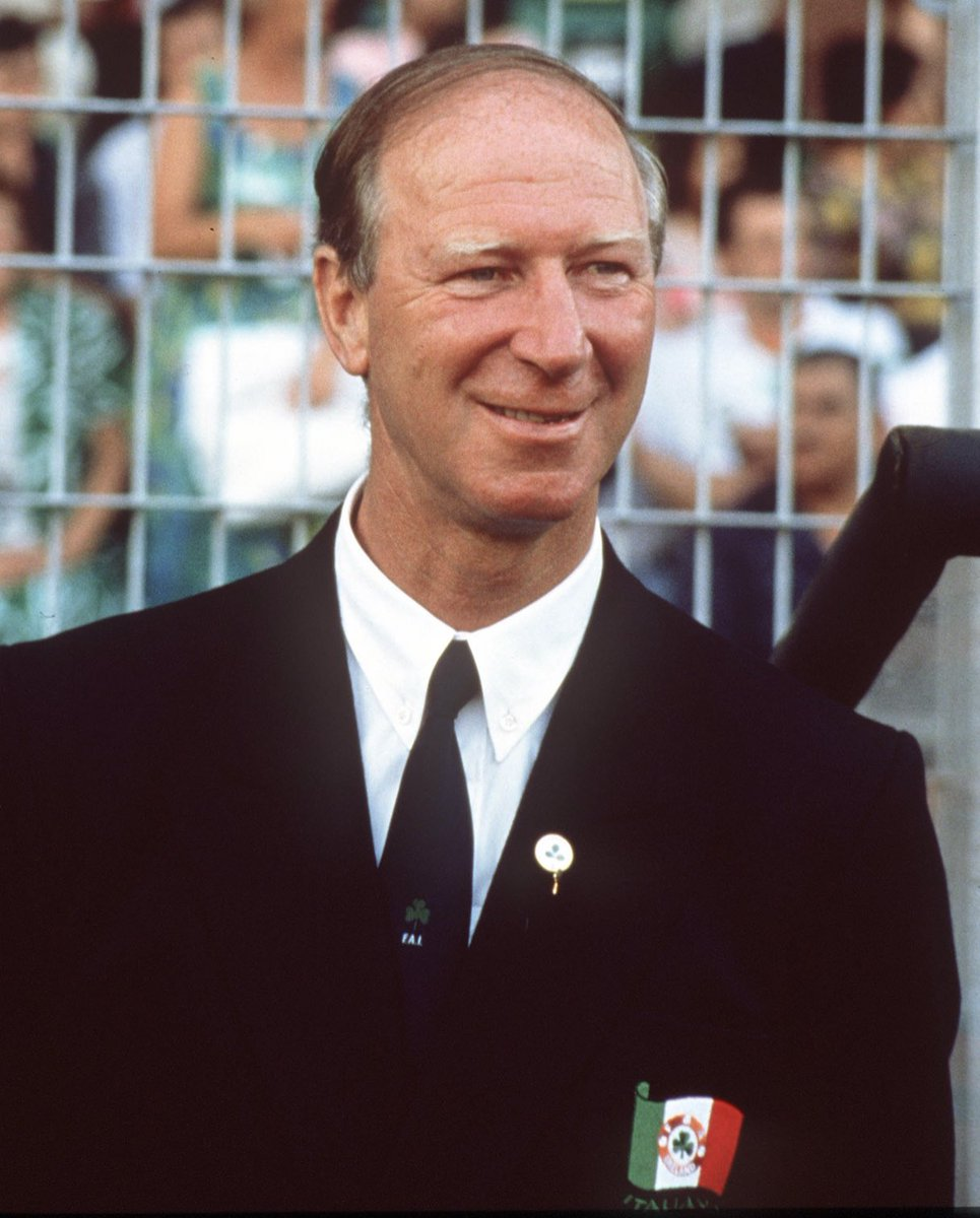 RIP The great Jackie Charlton. No man has brought more happiness to an entire nation as he did in the years he was Irish manager. A part of my childhood has died today. Thanks jackie from all the Irish. X