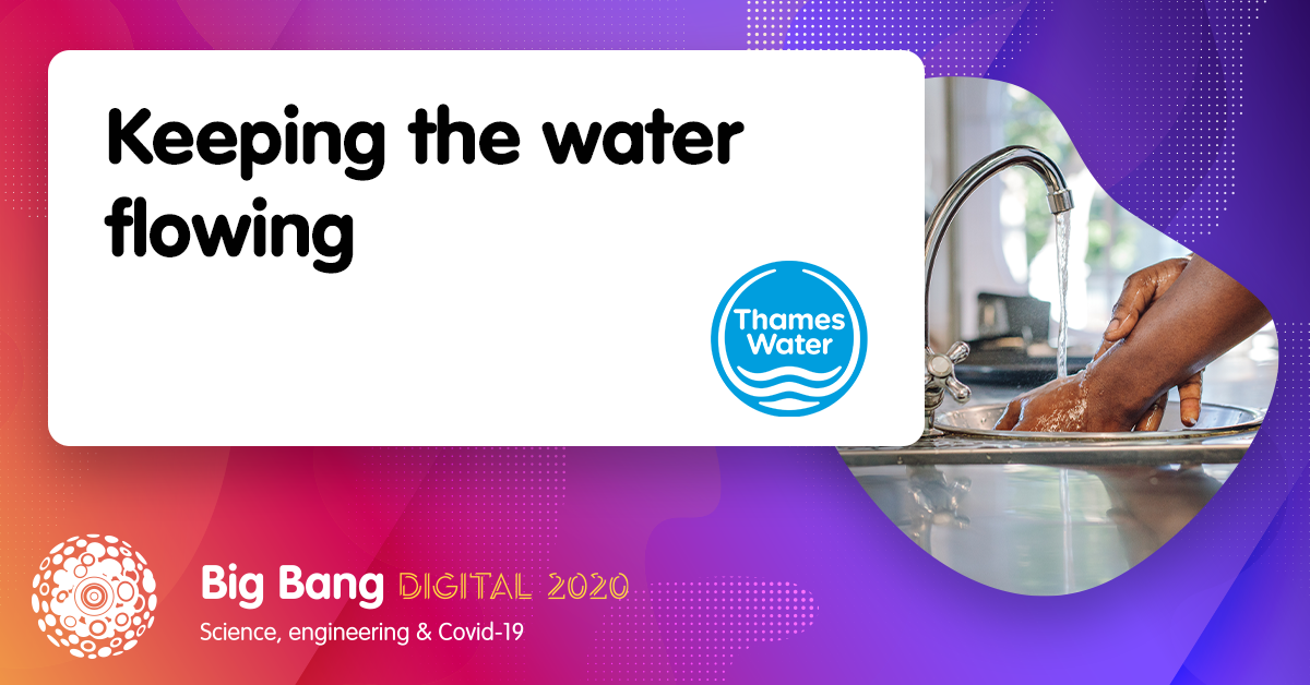 Tune in to @thameswater's #BigBangDigital session on Tuesday to find out how their engineers played their part during the #pandemic, supporting workers across the UK to keep essential services running! 💧  #STEMevent #STEMed #STEMeducation #STEMcareers https://t.co/WSfoLhVP3p
