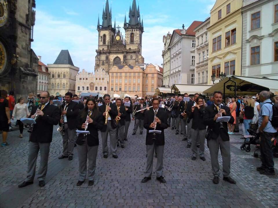 Piazza della città vecchia.. Praga 2015!   #Prague #Musica #festivaldellamusica