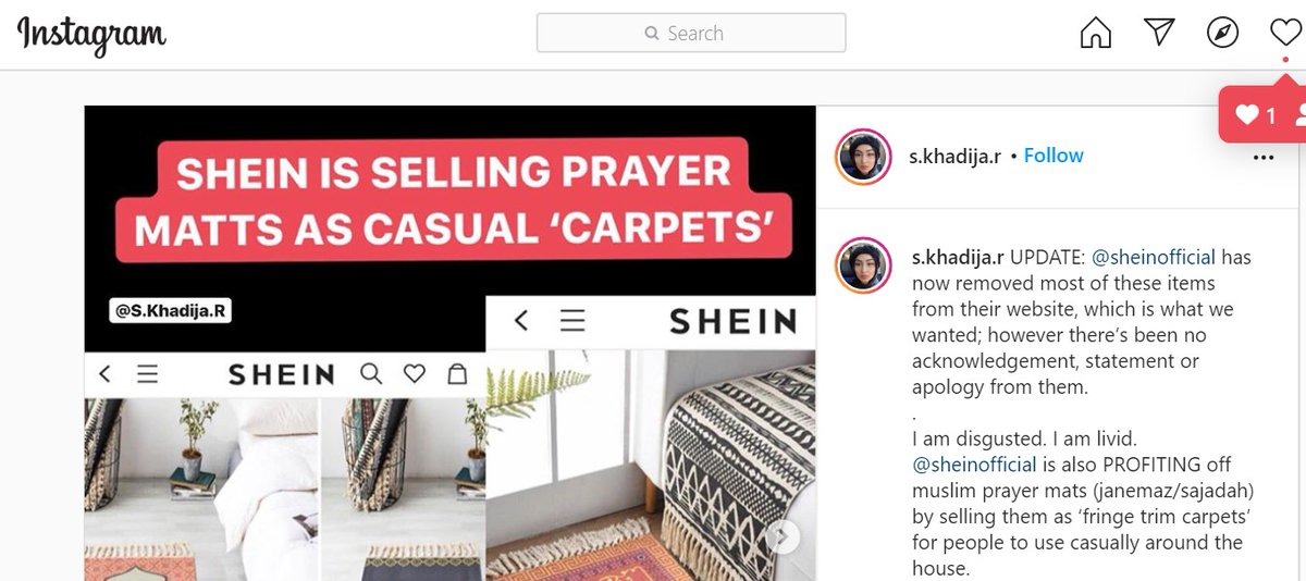 Last week, Shein insulted Muslims with a casual rug resembling a prayer rug.  This week, online store had a necklace they insist was a Buddhist swastika, not a Nazi swastika.  Islamophobia one week, anti-Semitism this week.   Who's next, @SHEIN_official ?pic.twitter.com/fihOmMx87L