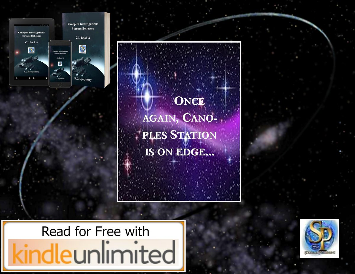 """#WhatToRead  """"Chief Pelham needs to speak to you on a private channel.""""  #scifi  #action  @Solsticepublish  #TeensOnTheHunt  eBook: http://mybook.to/PursuesBelievers…  print book: https://amzn.to/2NGodwj  #KindleUnlimitedpic.twitter.com/QPiH3tvtiI"""