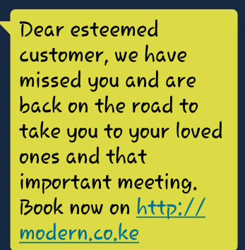 Of all people @Modern_Coast has sent me a missed you text? This bus company wants an #entanglement with me too? <br>http://pic.twitter.com/YGQNwesAhY